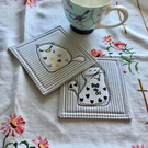 Pair of coasters - cats
