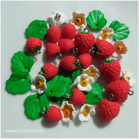 Strawberry beads charms summer blossom