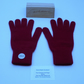 Ladies Pure Cashmere Knitted Gloves - Full Finger-Merlot Wine 028 (Size 6 Small)