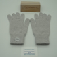 Ladies Pure Cashmere Knitted Gloves - Full Finger-Light Grey 032 (Size 6 Small)