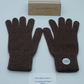Ladies Pure Cashmere Knitted Gloves - Full Finger  -Brown Mix 036 (Size 6 Small)
