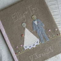 Personalised hand embroidered wedding album