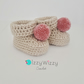 Crochet Baby Booties with Pompom