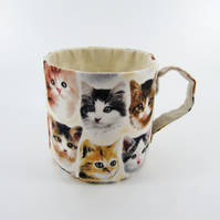 Reserved-Textile Mug-Cats Faces