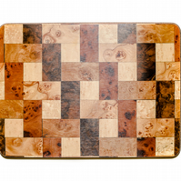 Set 4 Brown cream Melamine Table Mats Size: 292 x 216 mm or 11.75 x 8.5 inches