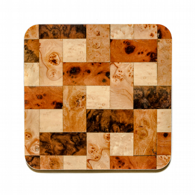 Coasters set of 6 square 10 cm or 4 inches square. FREE UK SHIPPING