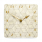 Large ivory wall clock 12 inch square or 30cms square