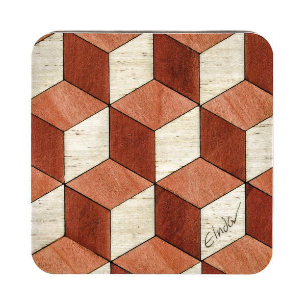 terra cotta ivory coasters melamine 10cm or 4 inch square