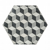 6 hexagon table mats grey heat resistant 160 degrees