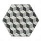 6 hexagon table mats grey heat resistant 140 degrees