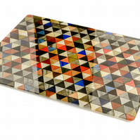 Toughened Recycled Glass work top saver or chopping board Harlequin Design