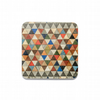 "Coasters 4 or 6 Harlequin 10cms OR 4"" square. FREE UK shipping"