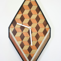 orange brown clock Diamond Shape