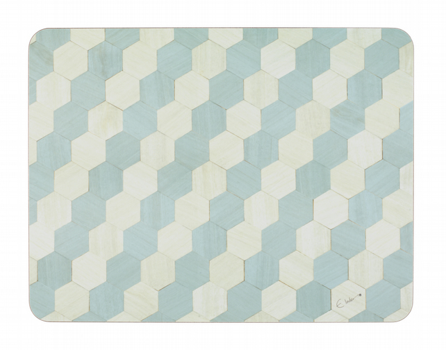 Placemats large size melamine heat resistant to 160 degrees Duck egg blue