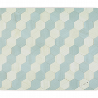 1 Duck egg blue table mats large size melamine heat resistant to 160 degrees