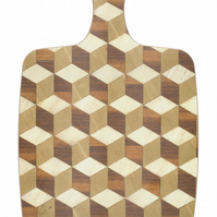 Chopping Board or Cheese Board Melamine in rich browns ivory and beige