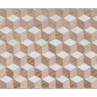 4 Quartz pink brown white Melamine heat resistant 160 table mats