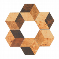 6 hexagonal coasters 115 x 100 x 3.2mm FREE UK shipping