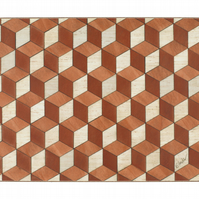 Large Serving Mat in soft peach orange ivory colours Heat Resistant 160 Celsius