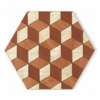 coasters set of 4 or 6 melamine 115 x 110 x 3.2mm