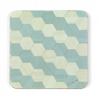 "4 or 6 duck egg blue coasters 10 cms or 4"" square. FREE UK SHIPPING"