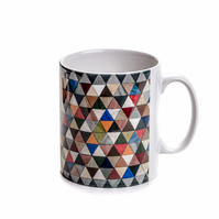 multi colour ceramic mug 10 fluid oz or half pint capacity