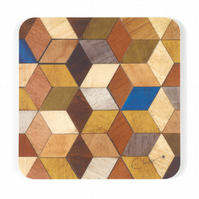 "4 or 6 coasters midcentury modern. 10cms or 4"" square. FREE UK SHIPPING"