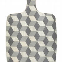 Chopping Board Grey geometric Melamine