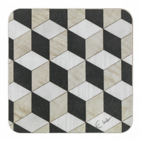"coasters set of 4 or 6 square shape. Retro chic 4"" or 10 cms sq. FREE UK postage"
