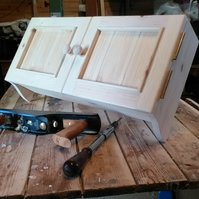 Solid pine fuse box cabinet