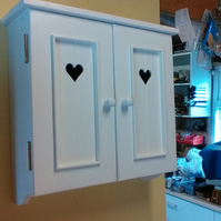 Bathroom cabinet painted pine.