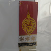 Joy Christmas Decoration Card