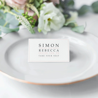 Pastel Wedding Place Cards
