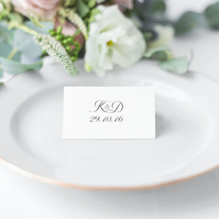 Romance Wedding Place Cards
