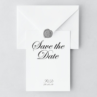 Romance Save the Date and Envelope Sample