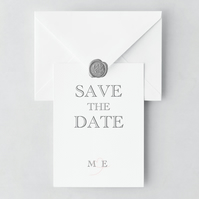 Catch Me If You Can Save the Date and Envelope Sample