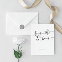 Glamour Wedding Invitation and Envelope Sample