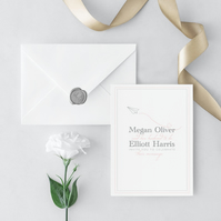 Catch Me If You Can Wedding Invitation and Envelope Sample