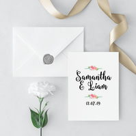 Garden Party Wedding Invitation and Envelope Sample