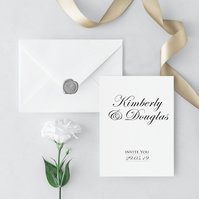 Romance Wedding Invitation and Envelope Sample