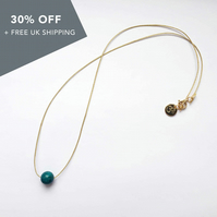 "Life Necklace (17"") - Turquoise"