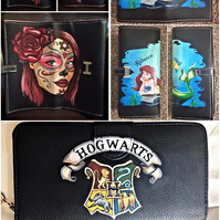 Hand painted custom hand bag purss