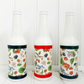 Trio of summer berries decorative glass bottle