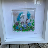 Fused glass flower picture