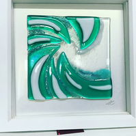 Box framed fused glass picture (SALE)