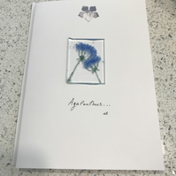 Fused glass keepsake card