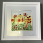 Fused glass flower meadow picture