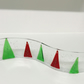 Fused glass stand up wave ornament