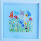 Fused glass summer meadow 30cm square picture