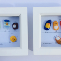 Small fused glass quirky and fun picture